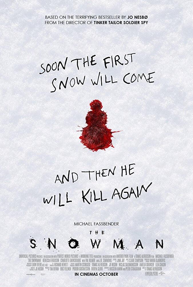 雪人 The snowman 改編自 尤奈斯博 哈利霍勒 系列小說 連續殺人魔 事件