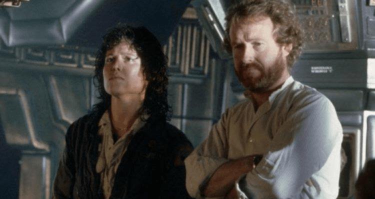 導演雷利史考特與雪歌妮薇佛。