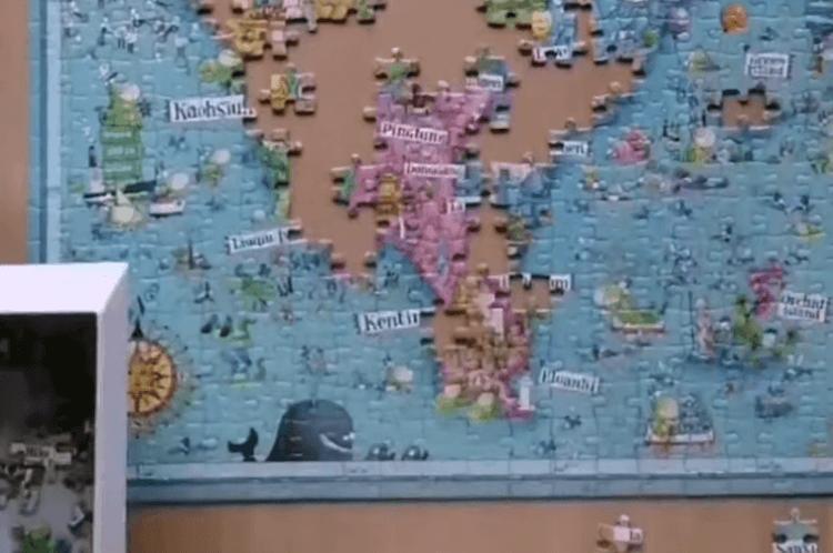 雷諾瓦力邀義大利籍知名插畫家 Degano,繪製有趣又具深度的台灣地圖:「福爾摩沙。心秘境」拼圖。南台灣 (1)