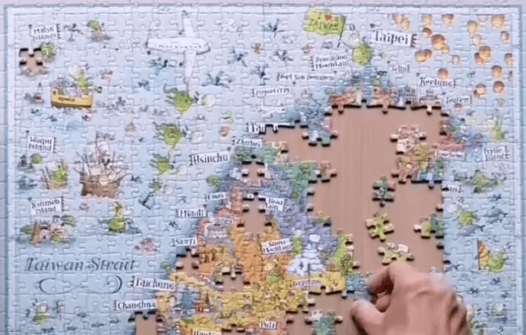 雷諾瓦力邀義大利籍知名插畫家 Degano,繪製有趣又具深度的台灣地圖:「福爾摩沙。心秘境」拼圖。 (1)