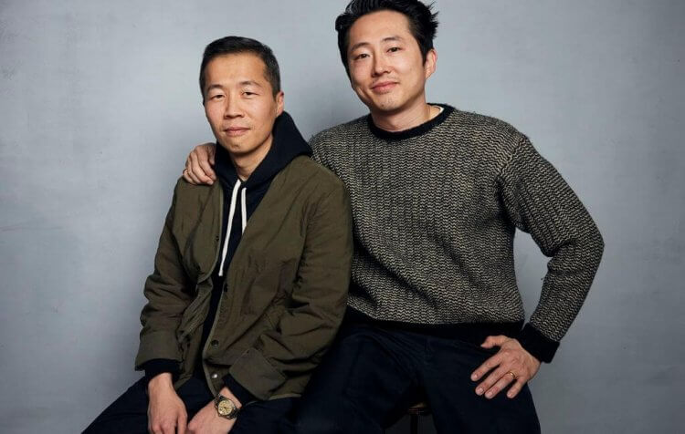 電影《夢想之地》飾演父親的男主角史蒂文元與導演鄭李爍
