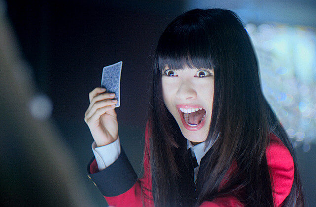 電影版《狂賭之淵》中,女主角蛇喰夢子依然由濱邊美波擔任演出。