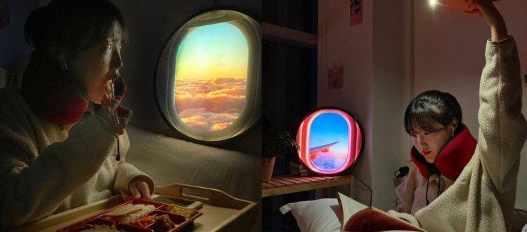 飛機窗造型 LED 燈。