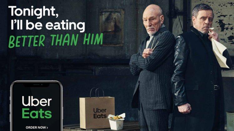 Uber Eats 最新廣告超狂 !《星際大戰》路克天行者 PK《星際爭霸戰》畢凱艦長首圖