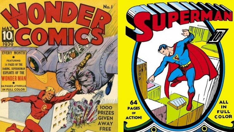 你知道美漫首次抄襲版權官司是什麼嗎?第一個模仿 DC「超人」的作品:Fox Comics 的「神力超人」首圖