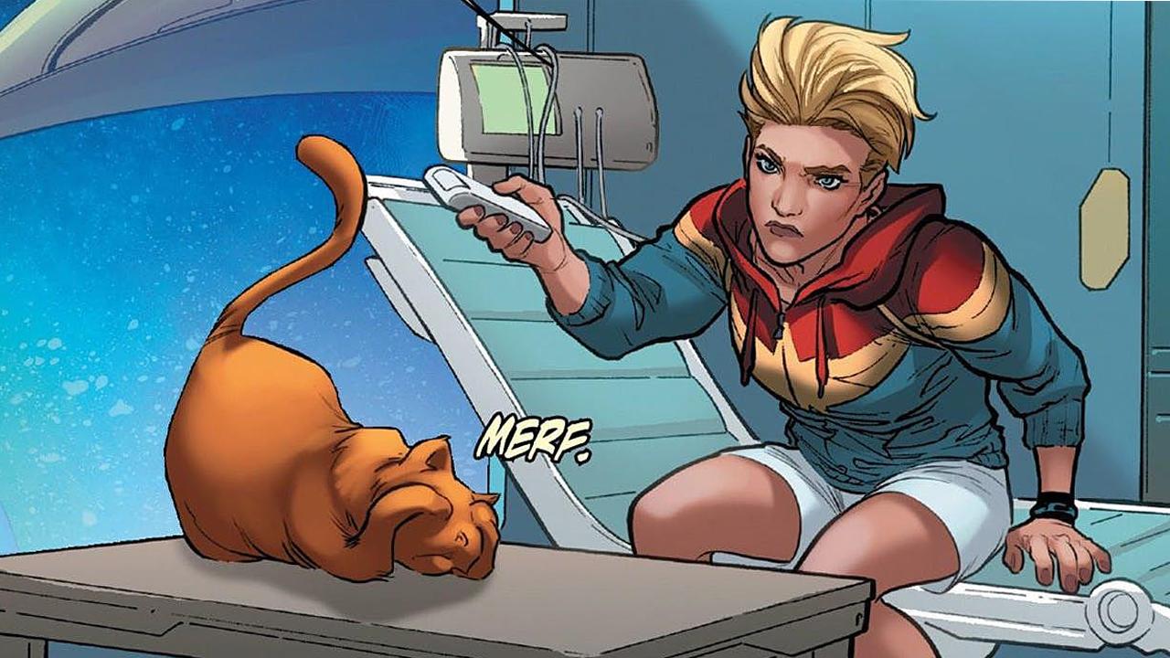 《驚奇隊長》最新海報中的彩蛋你找到了嗎?竟然是驚奇隊長的貓!
