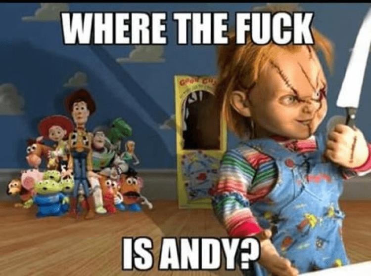 恰吉 和 《 玩具總動員 》的胡迪,他們的小主人剛好都叫「 安迪 」。
