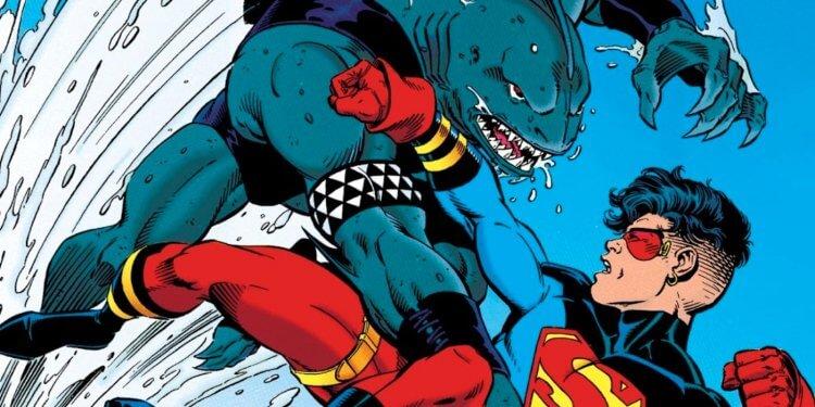 鯊魚王出現在《超級小子》漫畫中。