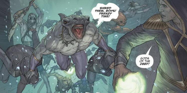 漫畫中的鯊魚王。