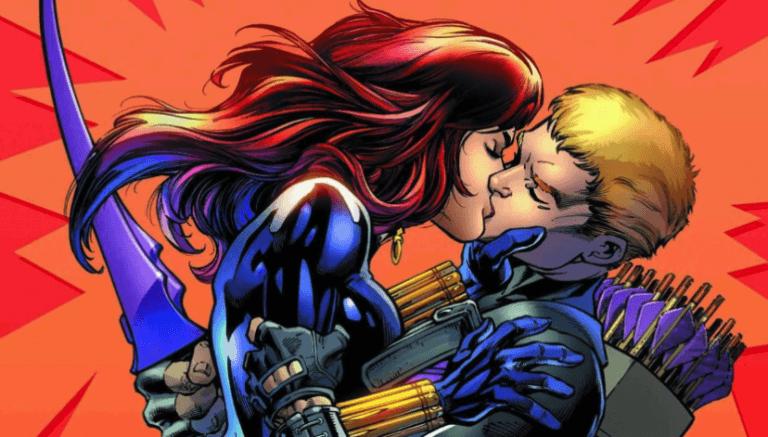漫威漫畫系列中的黑寡婦與鷹眼,她倆是關係密切的好朋友,在漫畫中更是情感豐沛。