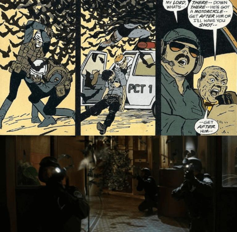 日後諾蘭版《蝙蝠俠:開戰時刻》也向《蝙蝠俠:元年》借鏡了許多元素。
