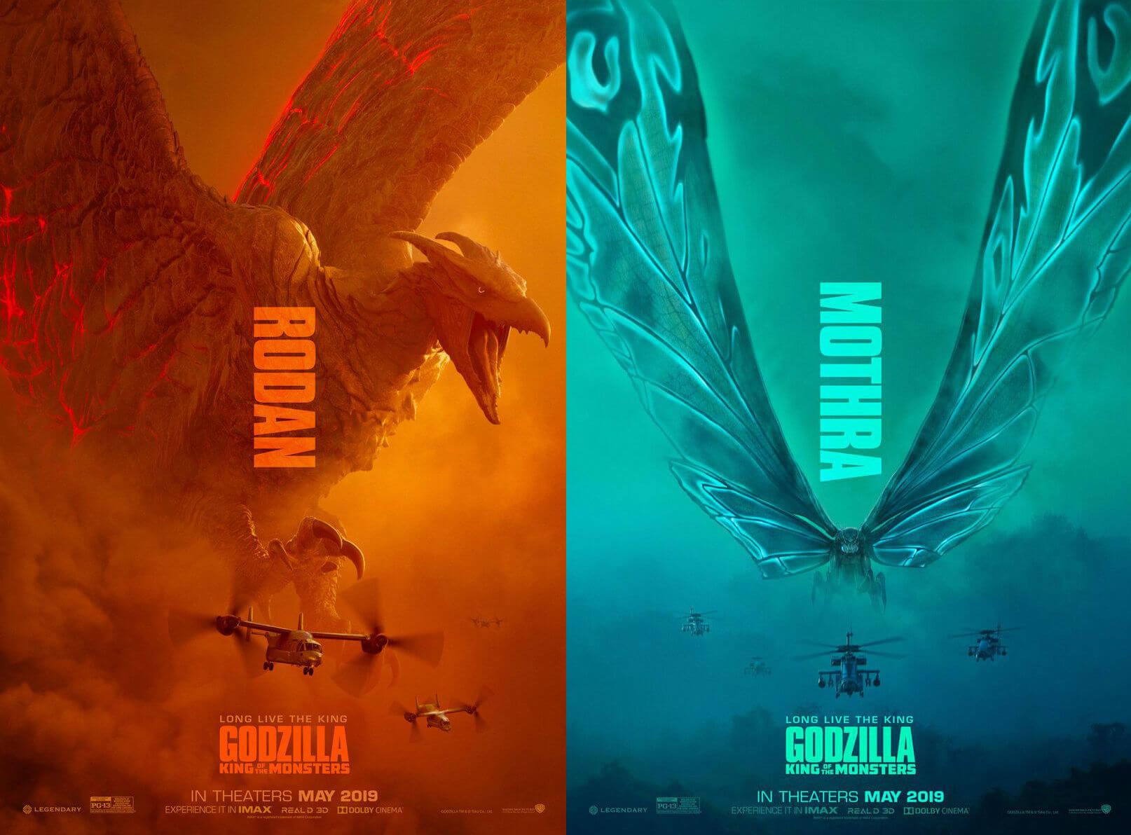 日本東寶經典特攝怪獸:拉頓 (Rodan) 以及摩斯拉 (Mothra) 也都將隨著哥吉拉陸續登陸好萊塢。