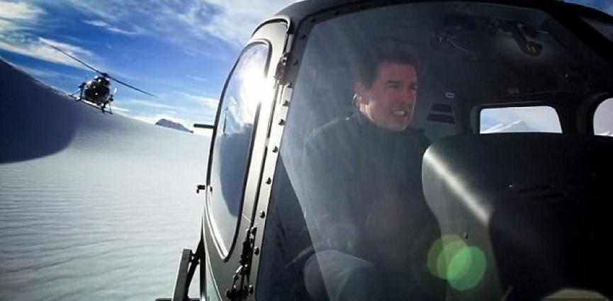 不可能的任務:全面瓦解 湯姆克魯斯 直升機特技