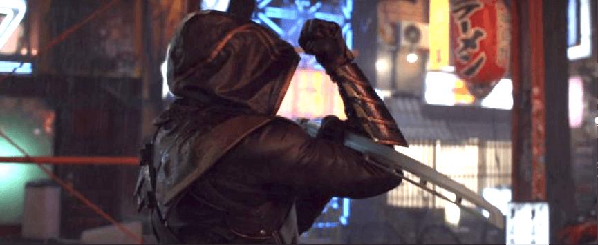 《復仇者聯盟4:END GAME》前導預告中現身的浪人(鷹眼)。