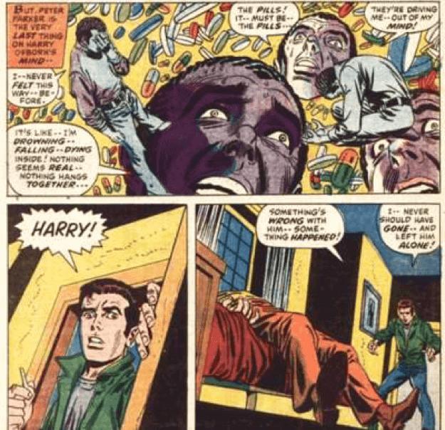 彼得吸毒而死的朋友哈利奧斯朋 (Harry Osborn)