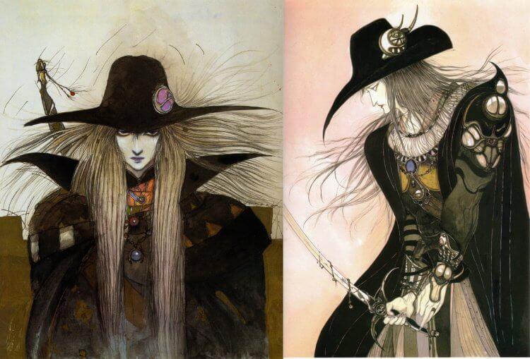 日本畫家天野喜孝筆下的吸血鬼獵人 D。