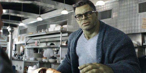 馬克盧法洛飾演的綠巨人浩克,在電影《復仇者聯盟 4:終局之戰》中的畫面。
