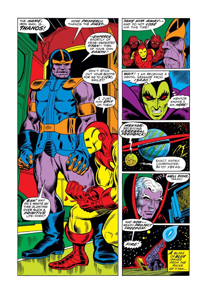 漫威 漫畫中,薩諾斯 與 鋼鐵人
