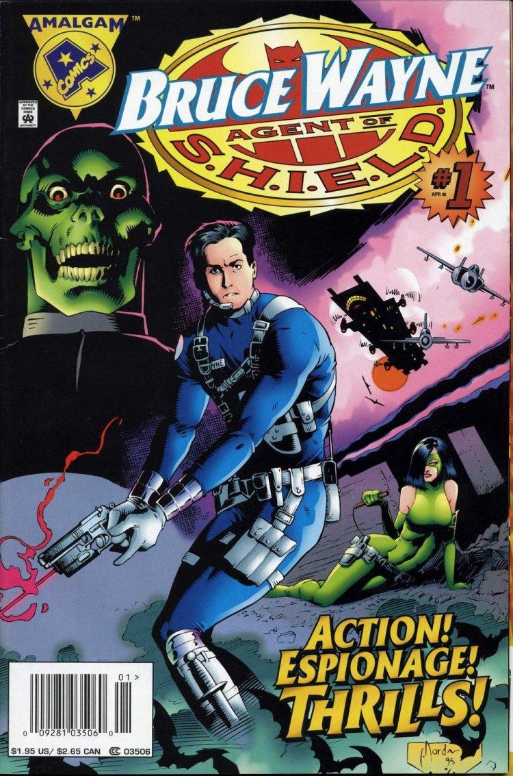 漫畫《Bruce Wayne Agent of S.H.E.I.L.D.》封面。