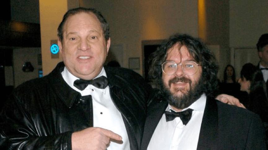 哈維溫斯坦(左)與彼得傑克森(右)。