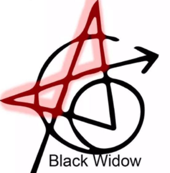 復仇者刺青-黑寡婦