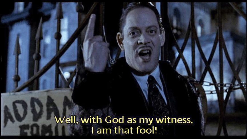 「老天為證!我就是那個笨蛋!」哪有人那麼霸氣地承認自己笨…