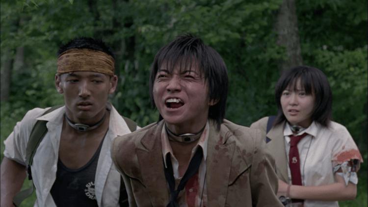 藤原龍也主演的小說改編話題電影《大逃殺》電影劇照。