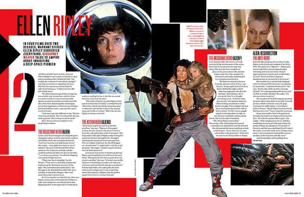 雪歌妮薇佛在《帝國雜誌》專訪透露《異形 5》劇本。