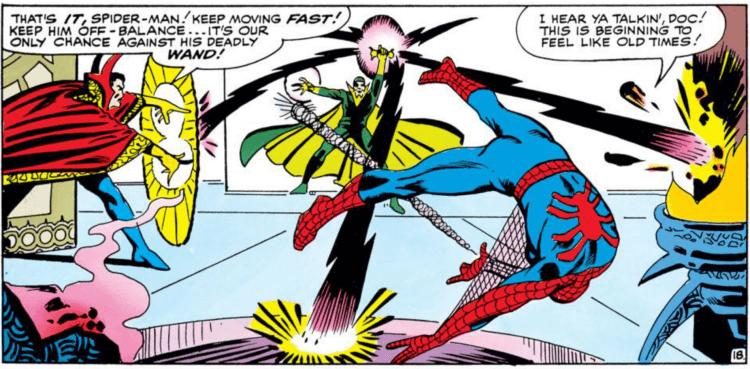 蜘蛛人與奇異博士在原作漫畫