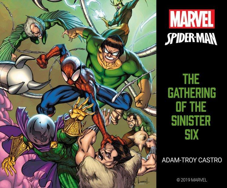 《蜘蛛人》系列的邪惡六人組示意圖。