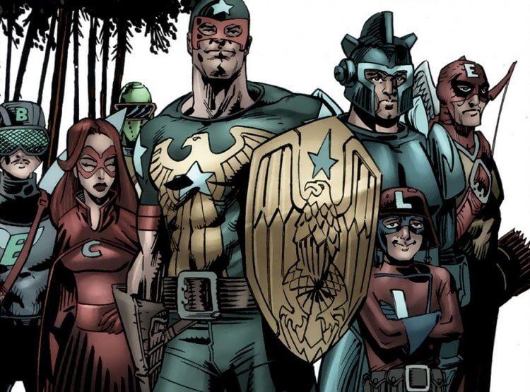漫畫《黑袍糾察隊》復仇小隊 (The Avenging Squad)。
