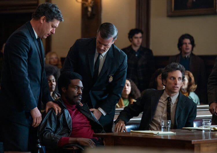 2021 奧斯卡最佳影片入圍電影《芝加哥七人案:驚世審判》劇照。