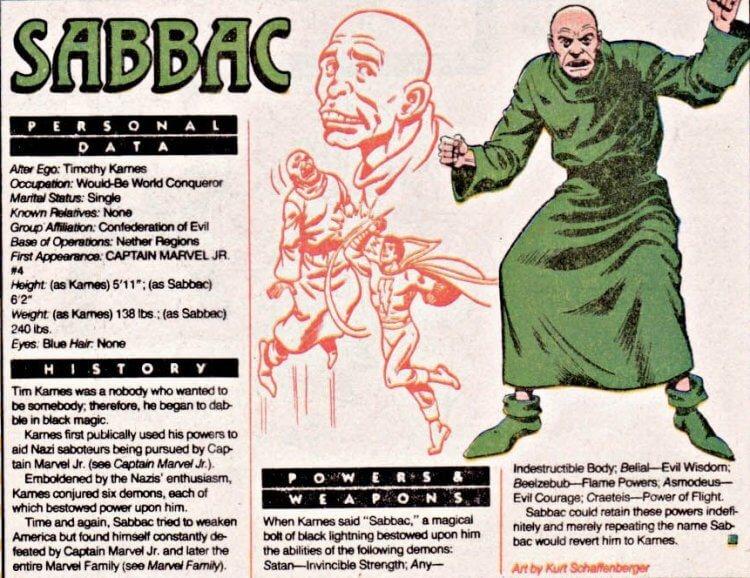 DC 漫畫上的 Sabbac。