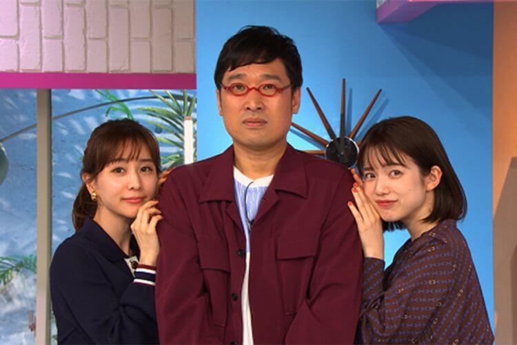 日綜《戀愛心機又怎樣》三位主持人:山里亮太、田中美奈實及弘中綾香。
