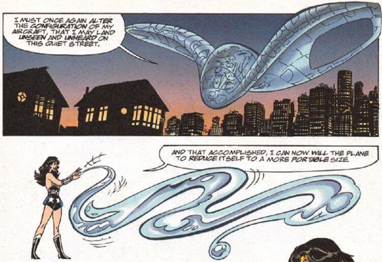 《神力女超人》dc 漫畫中的隱形飛機。