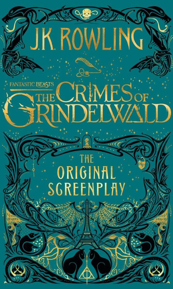由 J. K. 羅琳 執筆的電影劇本《 怪獸與葛林戴華德的罪行 》封面暗藏玄機