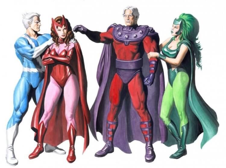 漫威漫畫中,快銀與緋紅女巫等人。
