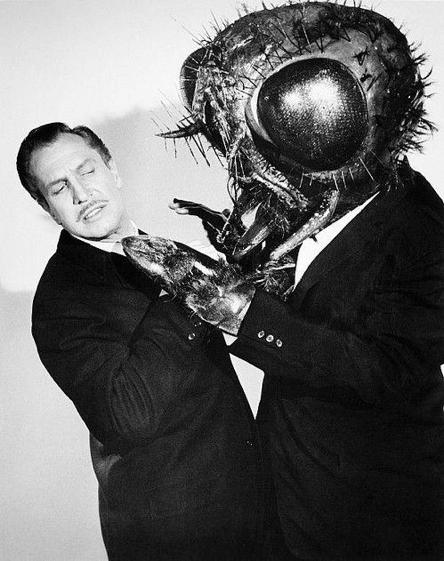 當年文生普萊斯為《變蠅人》 續集:《變蠅人重生》拍攝的宣傳照。