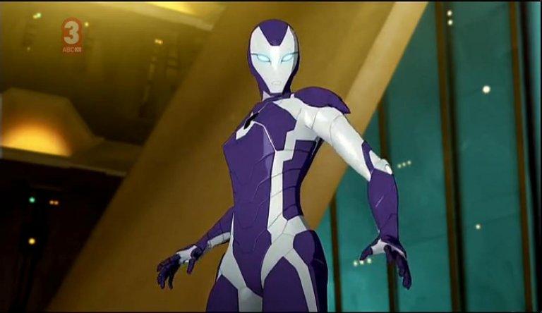 漫威動漫中出現的「救援者」紫色戰袍。