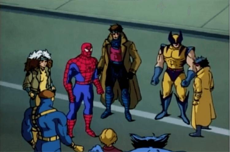 漫畫中「蜘蛛人」和「X戰警」。