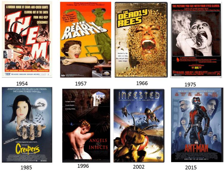 美國特殊類型電影「大蟲子電影」。
