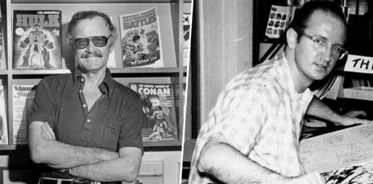 史丹李(左)與史蒂芬迪特科 (Steve Ditko) 聯合創作《奇異博士》