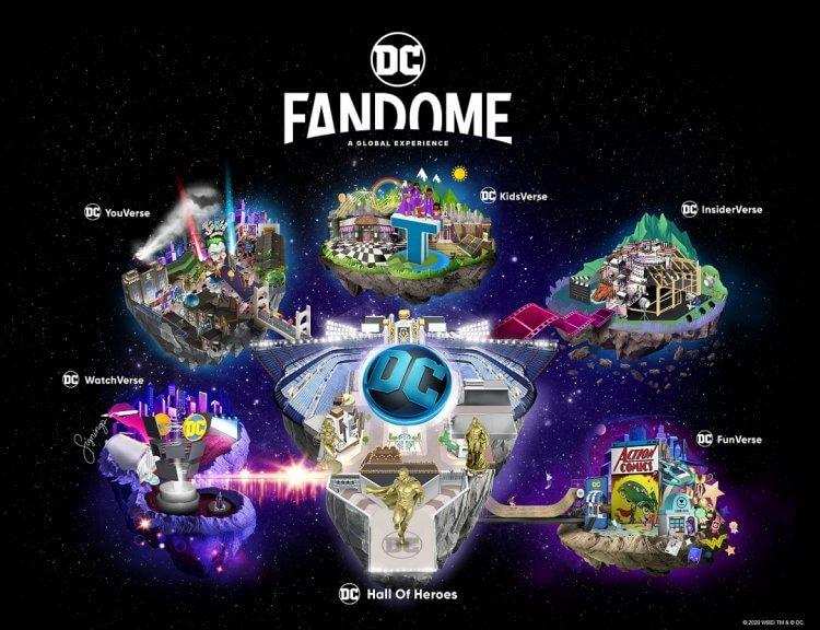 2020 年 DC 宇宙最大盛會 FanDome 設有 6 大主題場館,讓粉絲與心愛作品超級英雄線上互動。