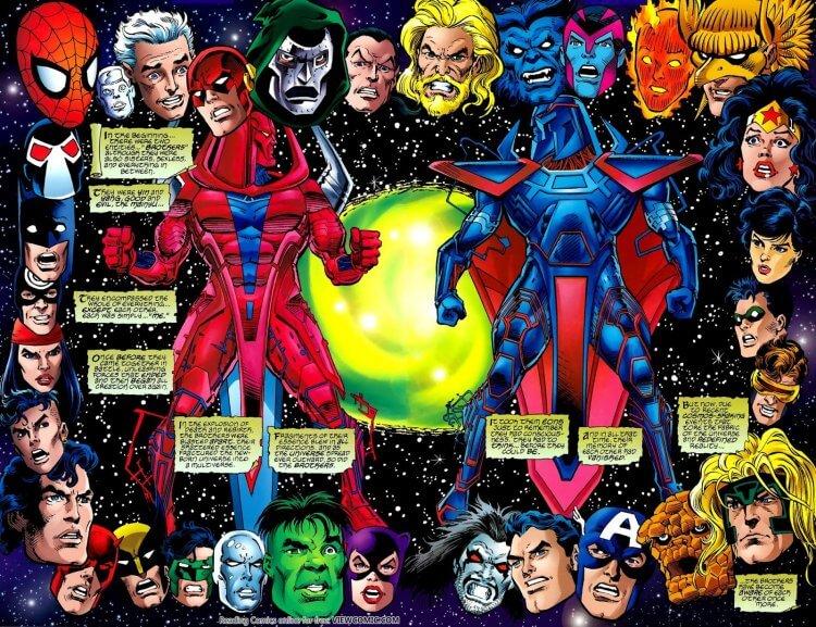 DC 與漫威宇宙互相比拼。
