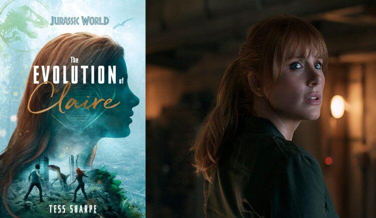 電影《侏羅紀世界》克萊兒(右)及傳記《克萊兒的演變》(左)。