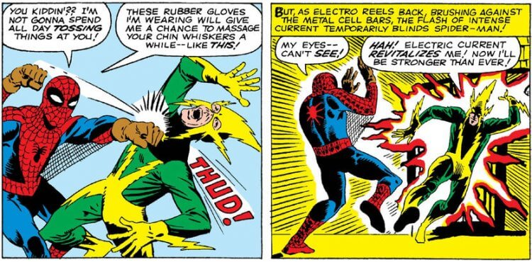 電光人與蜘蛛人。