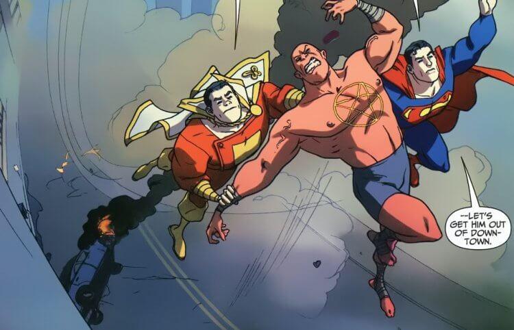 DC 漫畫中的沙贊、超人,以及 Sabbac。
