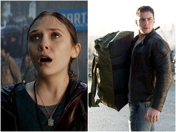 「 怪獸宇宙 」第一彈《 哥吉拉 》中的演員:「緋紅女巫」伊莉莎白歐森 (左) 亞倫強森 (右)