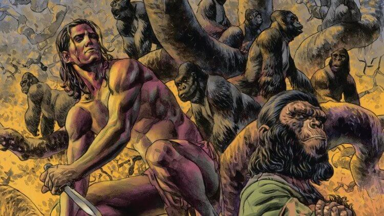《Tarzan on the Planet of the Apes》漫畫。
