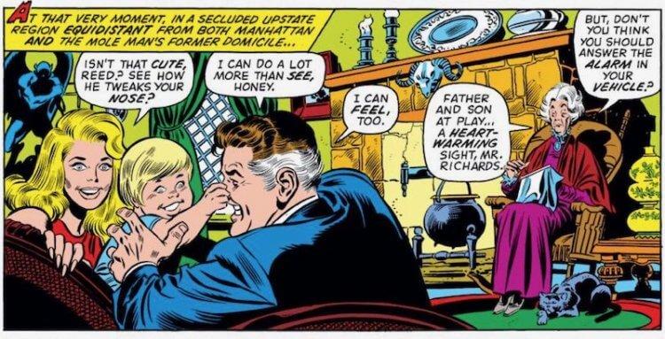 阿加莎哈克尼斯為《驚奇 4 超人》「驚奇先生」和「隱形女」孩子的保母。